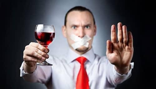 Отказ от употребления крепких напитков