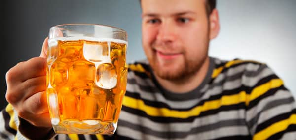 Употребление излюбленного хмельного напитка